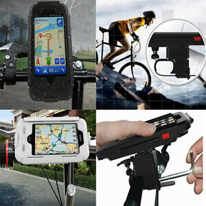 Waterproof Case Cover Bike Bicycle Handlebar Mount Holder For iPhone X 8 7 5 6s