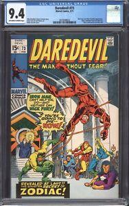 DAREDEVIL-73-1971-CGC-9-4-NM-Nick-Fury-amp-Iron-Man-appearance