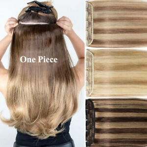 Invisible-One-Piece-Clip-In-100-Real-Remy-Human-Hair-Extensions-3-4Full-Head-US
