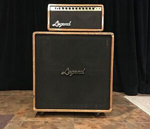 legend model a 60 electric guitar amplifier vintage 4x12 head cab tube amp ebay. Black Bedroom Furniture Sets. Home Design Ideas
