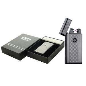 Dual-Arc-Electric-USB-Lighter-Rechargeable-Plasma-Windproof-Flameless-CigaretteM