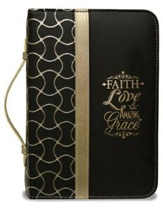 Faith-Bible-Cover-Black-and-Gold-X-Large