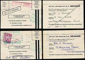 Postage Due 1965 On Business Reply Cards Nestle