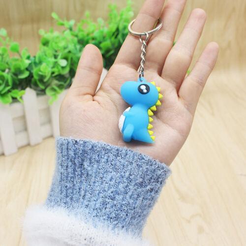 12pcs Cartoon Dinosaur Keychains Creative Key Holder Stylish Key Ring Key