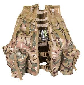 British Army Military Hunting Cadet Webbing Tactical US Combat Assault Vest BTP