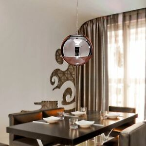 Image Is Loading Modern Globe Mini Chrome Chandelier Ceiling Light Fixture