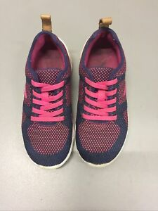 Girls Pink And Navy Clarks Trainers