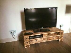 Mobile porta tv cassettiera realizzato con bancali epal - Mobile con bancali ...