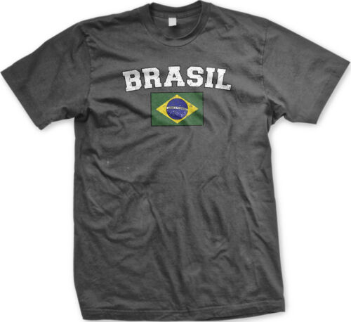 Brasil Country Brazilian Pride Flag World Football Soccer  Mens T-shirt