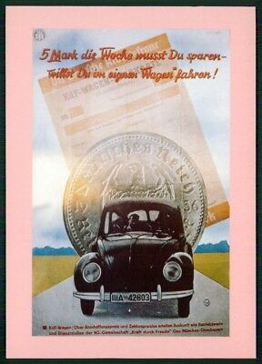 Automobilia Accessoires & Fanartikel Hart Arbeitend Auto Vw KÄfer Alte Ansichtskarte Original Postcard Car Vw Beetle //m1291
