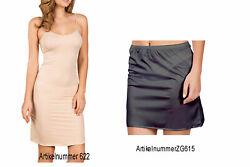 Unterrock Damen -Unterkleid mit Verstellbaren Träger  Beige Schwarz Weiß S M L