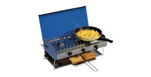 Campingaz-Camping-Chef-Portable-Gas-Double-Burner-and-Grill-Stove