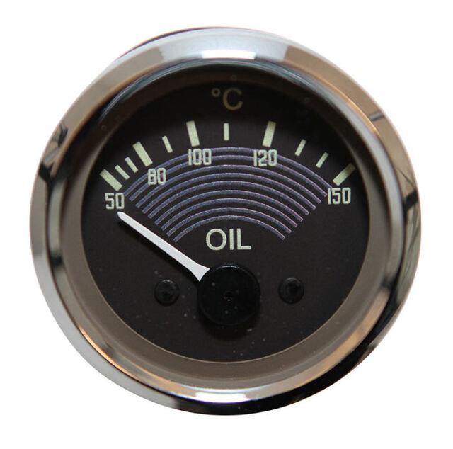 VW Splitscreen OE Style Oil Pressure Gauge Smiths Original 52mm Splity Brown T2