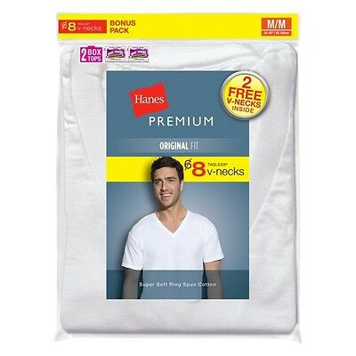 Hanes Premium Men's 6+2 Bonus Pack V-Neck Tees