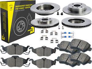 4-Bremsscheiben-Belaege-Vorne-amp-Hinten-Chevrolet-Corsa-Opel-Astra-Kasten-Coupe