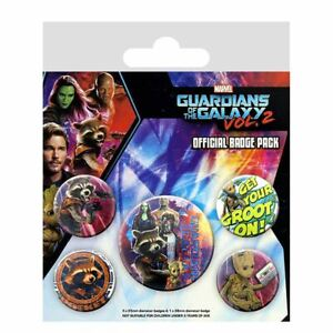 Marvel-Guardians-of-the-Galaxy-Vol-2-Rocket-amp-Groot-Pin-Button-Badge-Set-of-5