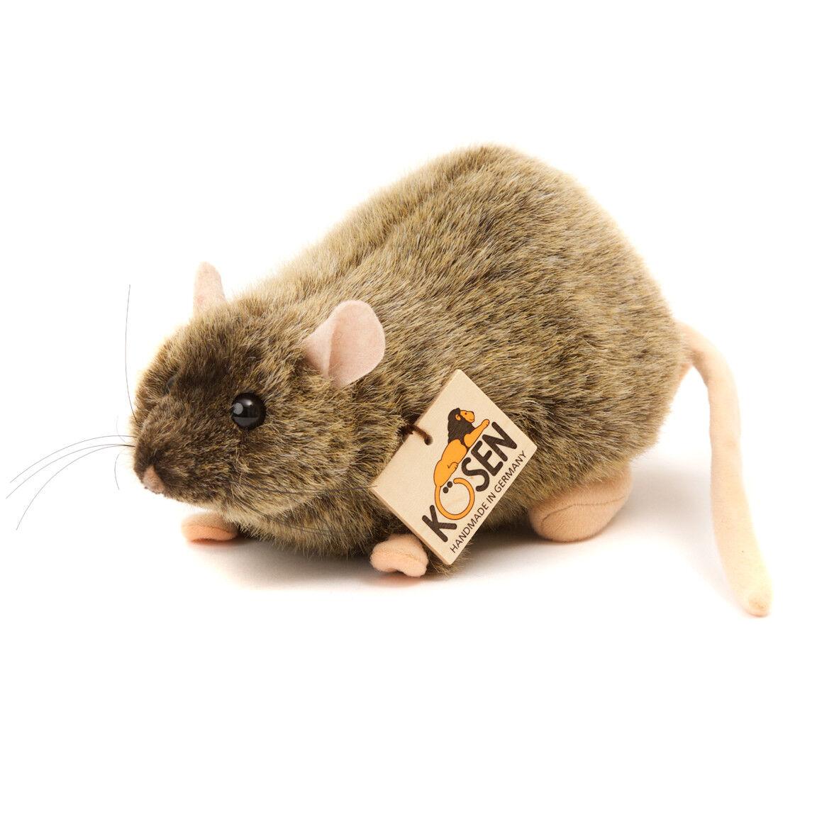 Marrone Rat - Collezionabile Morbido Peluche Giocattolo - Kosen / Kösen - 3670 -