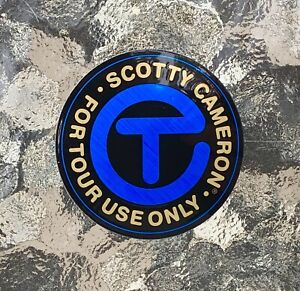 """Scotty Cameron 2021 New Gallery CIRCLE T • FOR TOUR USE ONLY Sticker 2"""" BLUE"""