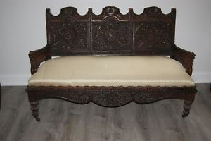 Image Is Loading 1800 1900s MASTERPIECE ANGLO INDIAN HAND CARVED SOLID