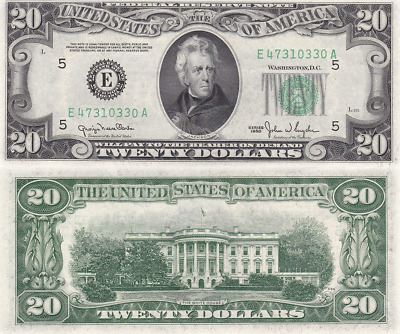 1950 $20 Cleveland District Federal Reserve Note FR 2059-D Uncirculated