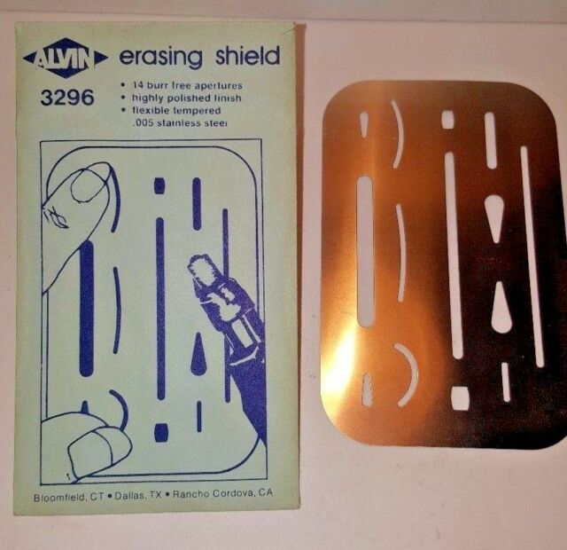 Alvin 3298 Steel Erasing Shield