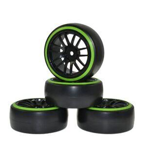 Details about 4PCS RC 1/10 Car Drift Wheel Rims and Tyres Tires for HSP  94123 Tamiya sakura