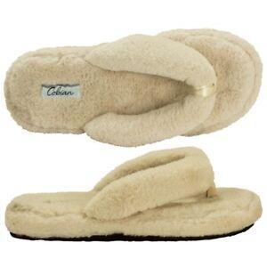 54e3327fa0b6 Women Cobian Bliss Faux Fur Flip Flop Sandal BLI18-110 Cream 100 ...