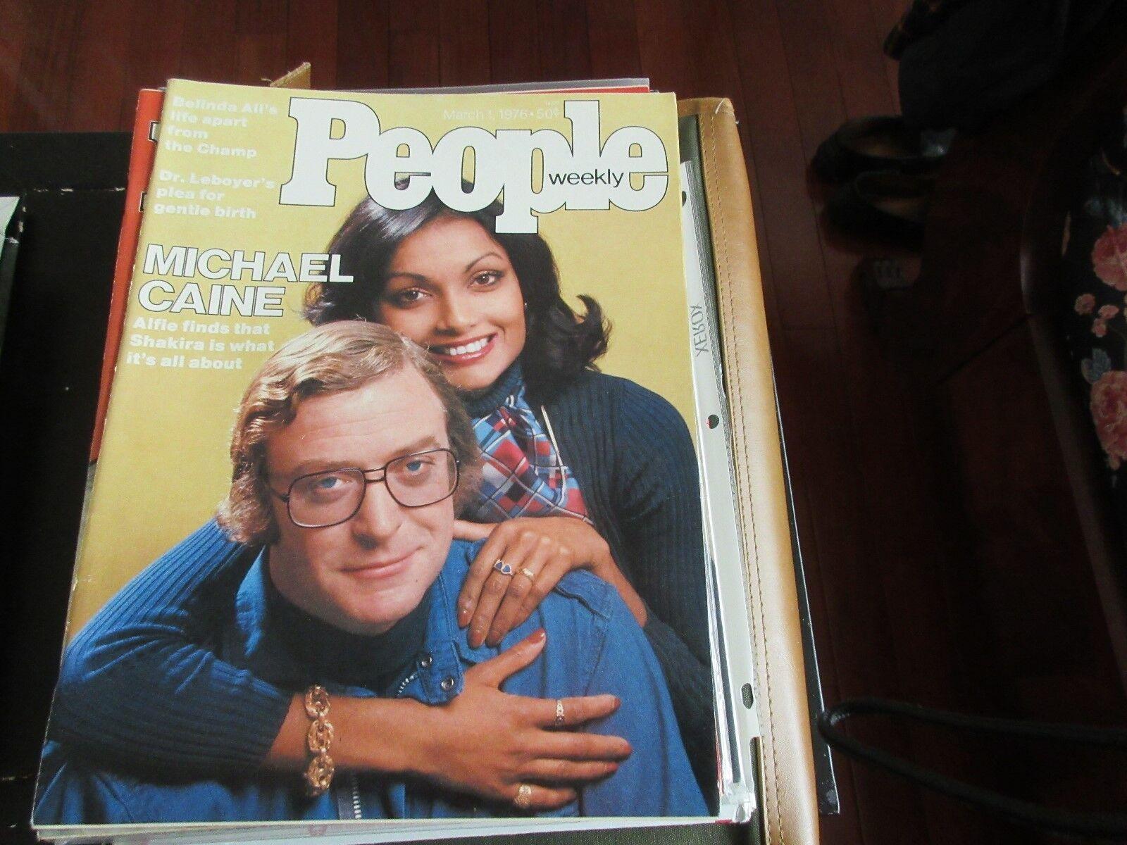 Michael Caine , PEOPLE MAGAZINE ,3/1/76, Belinda Ali ,