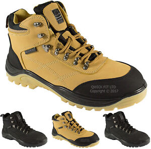 Mens Groundwork Steel Toe Safety Boots Lace Up Hiking Work Boots Shoes Trainers