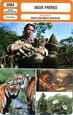 Fiche Cinéma. Movie Card. Deux frères (France/G-B) 2004 Jean-Jacques Annaud