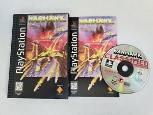 WarHawk PS1 PlayStation Longbox Complete Near Mint Disc Free Fast Shipping