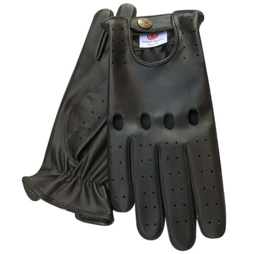 New retro style quality soft leather men/'s driving gloves unlined chauffeur 502