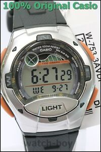 W-753-3A-Green-Casio-Men-039-s-Watches-Resin-Band-Digital-10-Year-Battery-Sports-New