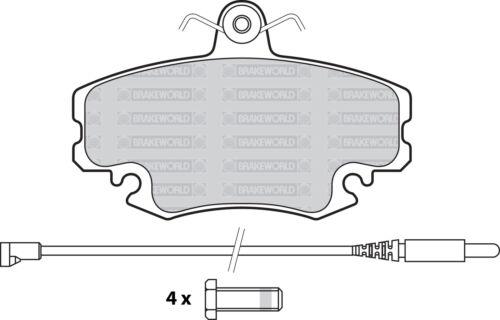 OEM FRONT DISCS AND PADS 259mm FOR RENAULT CLIO CAMPUS VAN 1.5 D 2005-09
