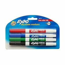 Low Odor Dry Erase Markers Fine Point Assorted Colors 4 Count Expo 86674k