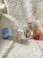 Shot Glass Lot Of Eight Paris, Maui, San Fransisco, Cozumel Drinking Beer Games