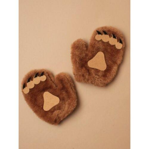Teddy Bear Ears Bow Tie /& Glove Set Children Bear Fancy Dress Costume UK SELLER.