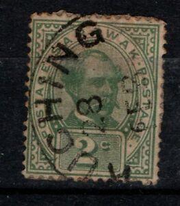 Sarawak-1899-1908-Sir-Charles-Brooke-2c-green-SG37-Used