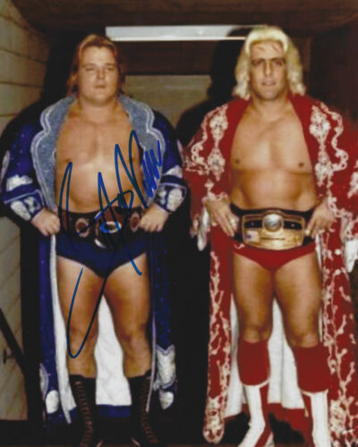 WWE Hall Of Famer w//COA Greg /'The Hammer/' Valentine Signed Autographed Photo