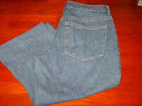 Womens Blue Lands End Cropped Jeans Size 6p