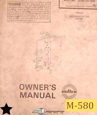 Miller Millermatic 200 Skp 35 Welding Owners Manual Year 1987