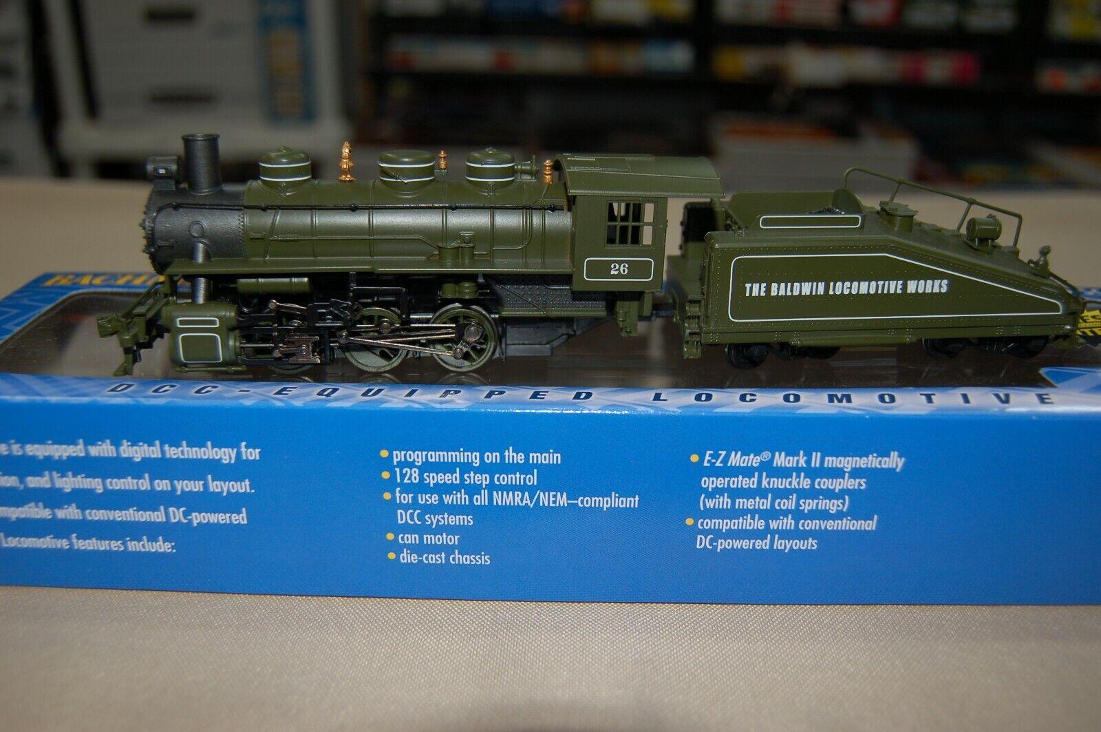 Bachuomon HO USRA 060 con il fumo Baldwin Locomotive lavoros  26 DCC