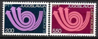 Cept 1973 Jugoslawien Nr.1507/08 ** Europa Postfrisch Seien Sie Freundlich Im Gebrauch