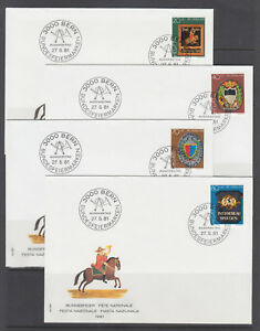Switzerland-Sc-B479-B676-FDC-Collection-181-diff-all-singles-1981-2003-issues
