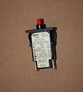 Schurter Thermal Circuit Breaker 3 AMP PART # T11-818-3A  Back up fuse