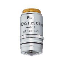 AmScope 4X-100X Infinity-Corrected Plan Fluor Objective Lenses