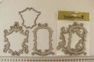 Chipboard-Die-Cut-FRAMES-HERITAGE-MIX-9x12cm-3-piece-pack-Twiddleybitz-GFB