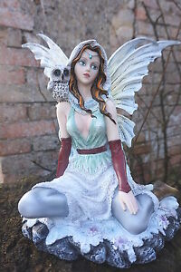 15500 Grande Figurine Statuette Fee Chouette Hibou Heroic Fantasy Noel Hiver