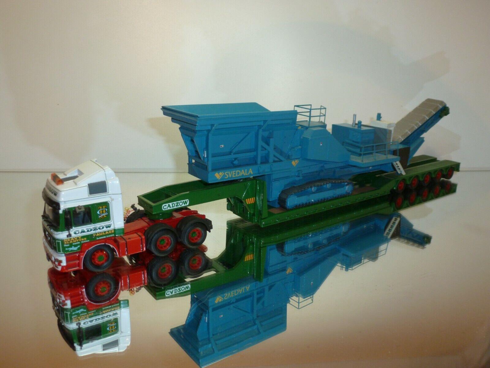 CORGI TOYS MAN F2000 KING TRAILER CRUSHER LOAD CADZOW HEAVY HAULAGE - verde 1 50