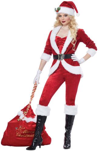 Sassy Santa Adult Women/'s Christmas Costume Red Velvet Suit Mrs Claus XS-XL New